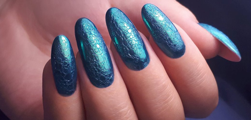 BUBBLE NAILS, FOAM NAILS - EFEKT PIANY NA PAZNOKCIACH KROK PO KROKU